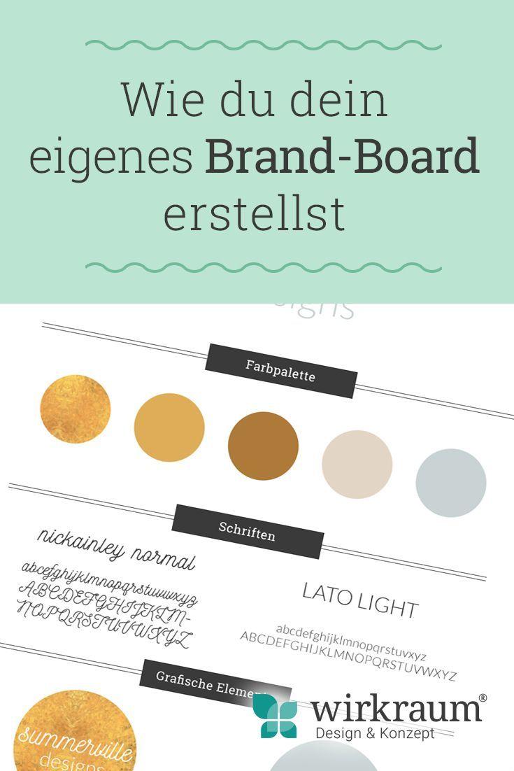 Wie du ein unverwechselbares Brand Board für deine Marke erstellst