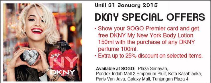DKNY Special Offer di Sogo, Promo Sampai 31 Januari 2015