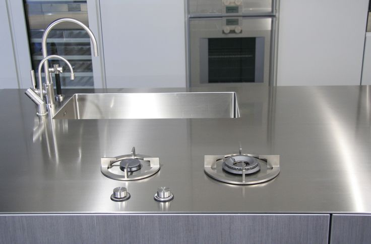 i-Cooking in 4 mm solid stainless steel worktop by abk-innovent.com