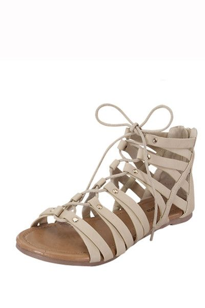 Stay a step ahead this season with these strappy gladiator sandals. These practical flat heels- adding instant boho chic glam to any outfit.