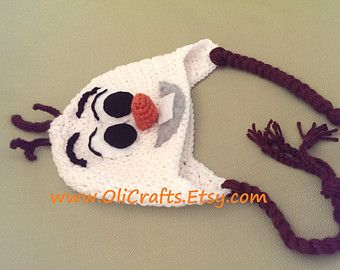 olaf crochet hat - Google Search
