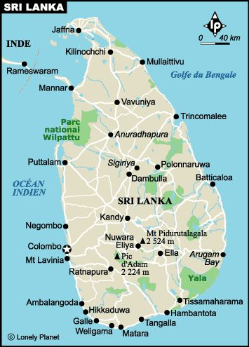 Democratic Socialist Republic of Sri Lanka, is an island country in the northern Indian Ocean. The British took over in 1796 an became a colony in 1802. Total area: 25,332 sq mi. Population (2010 est.): 21,5 millions.The capital, Sri Jayawardenepura Kotte, is a suburb of the largest city, Colombo. The name Ceylon was changed to Sri Lanka. | Sri Lanka ❁