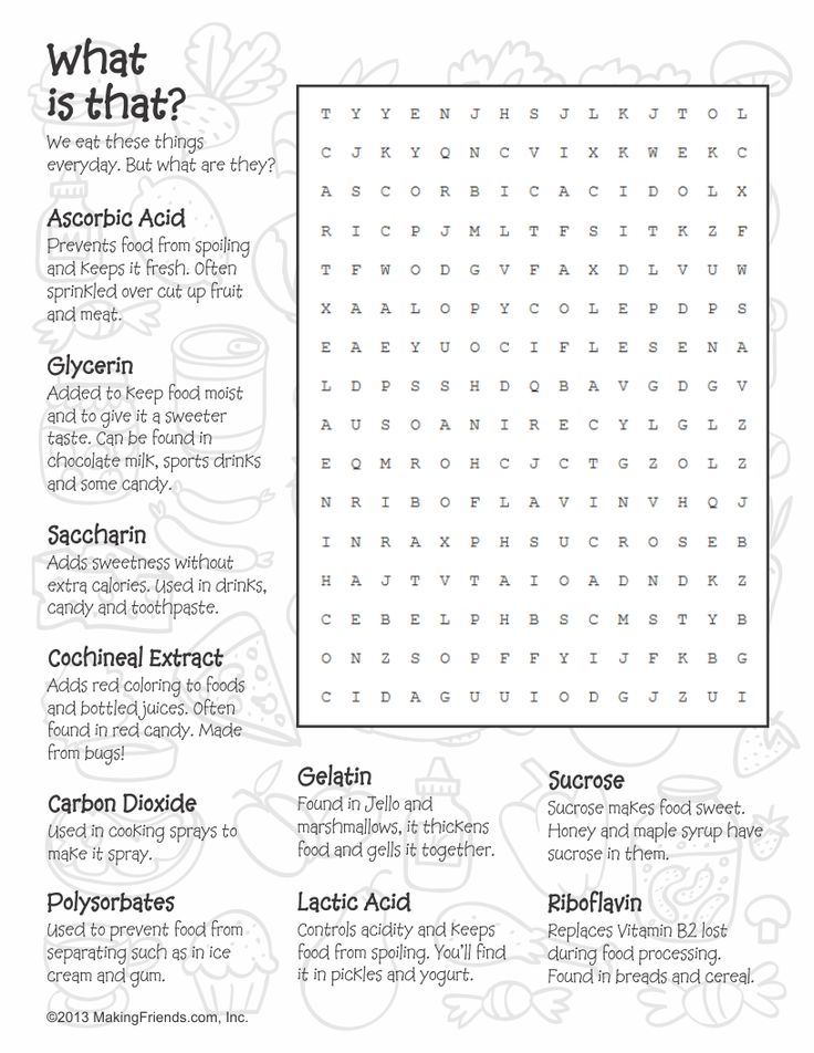 Brownie Snacks Word Search. Print these out while earning your Brownie Snacks Badge. More printables on MakingFriends.com