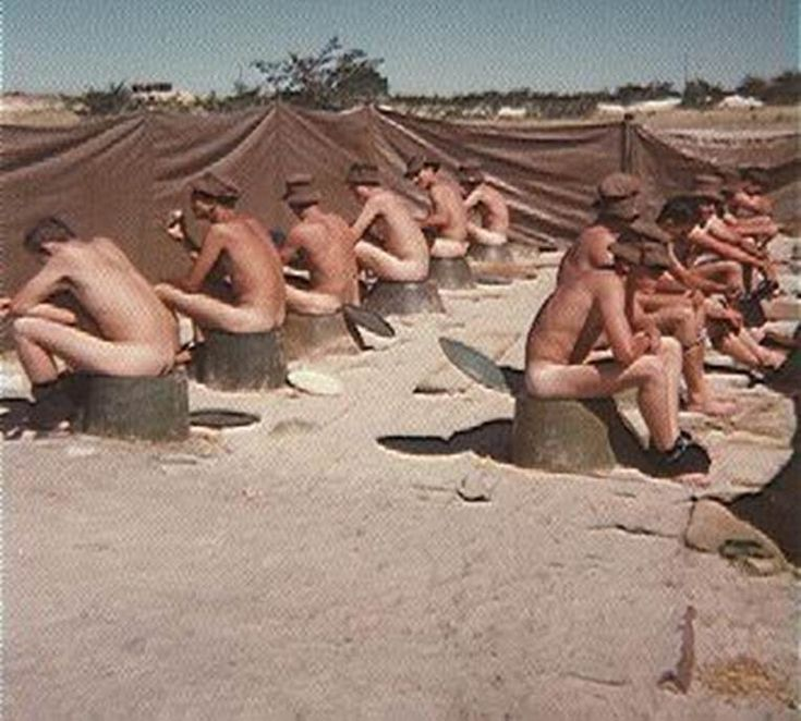 "Those were the days (1981) - SADF. I remember digging the pits for these latrines. We used to call them ""go-karts"". They stood out in the hot African sun and got very hot. When doing your number two you first had to cool the seat down with water, otherwise you ran the risk of blisters on your behind!"