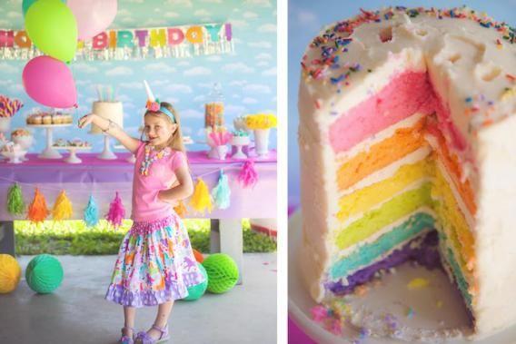 festa-infantil-arco-iris-bolo-camadas-coloridas