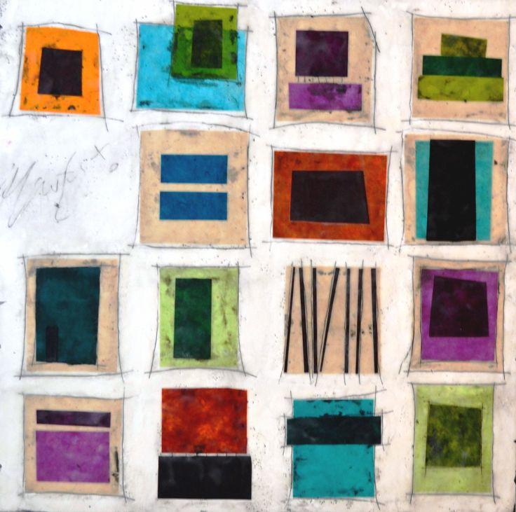"""""""Squares"""", Gina Cochran 24x24, Mixed Media"""
