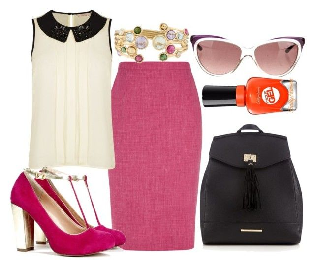 """""""Elle Woods inspired professional look"""" by tynestar ❤ liked on Polyvore featuring Eastex, Darling, CABARET, Red Herring, Sally Hansen, Marco Bicego and Yves Saint Laurent"""