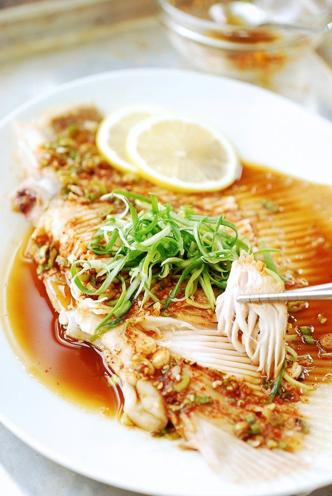 Hongeojjim (steamed skate fish)! You can also bake it in parchment paper.