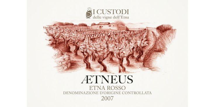 progettazione grafica e illustrazioni per le etichette dei vini de I Custodi delle Vigne dell'Etna | Catania