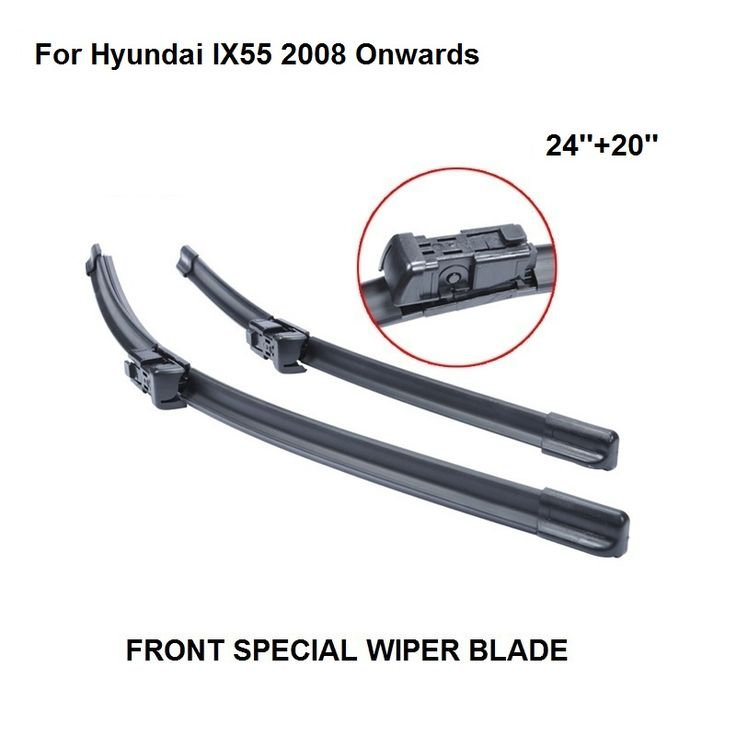 Car Accessaries Auto Windscreen Wipers Blade For Hyundai IX55 2008 Onwards 24''+20'' Windshield Natural Rubber