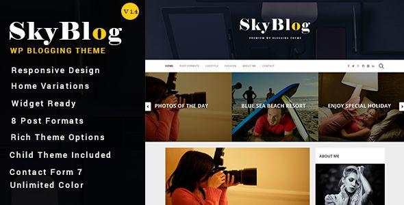 SkyBlog - Responsive WordPress Blog Theme