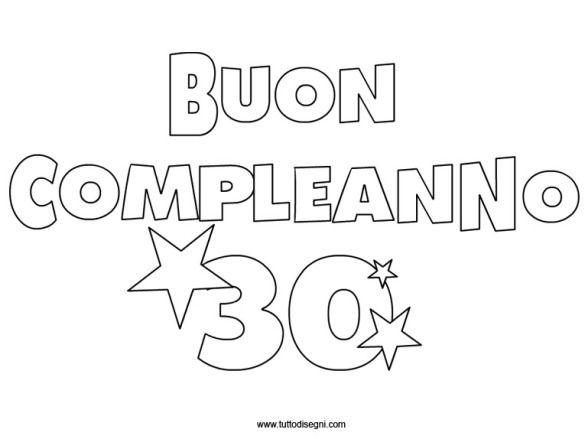 """scritta """" Buon Compleanno 30 """""""
