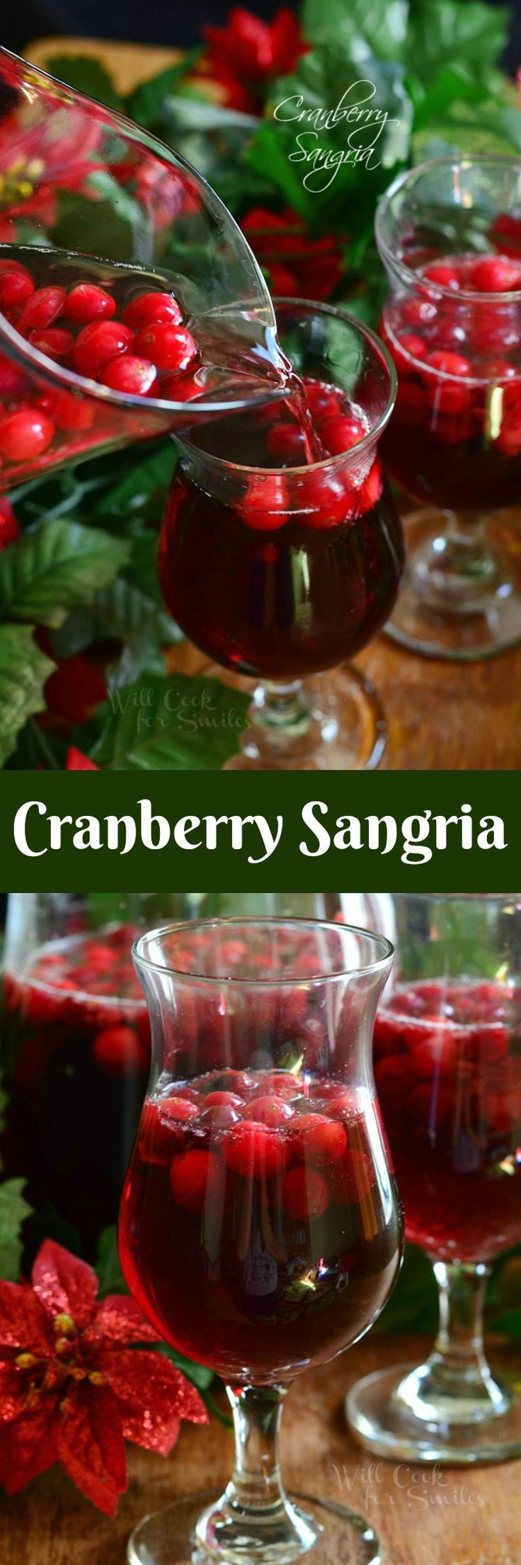 Cranberry Sangria is perfect for this holiday season. Delicious seasonal cocktail made with fresh cranberries, cranberry flavored vodka, juice and red wine.