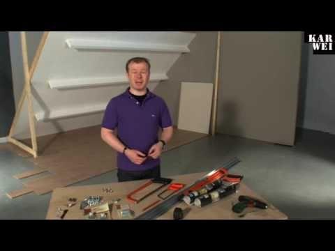 Schuifdeurkast maken onder schuindak. > opbergruimte op zolder!