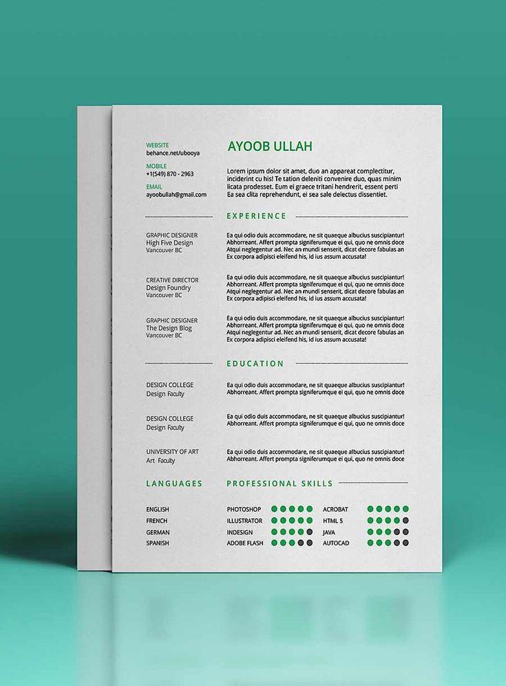 296 best resume images on pinterest resume templates free