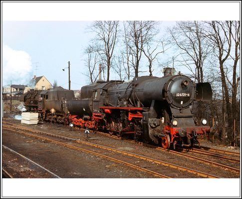 Die 52 6721 zum anheizen ein Jahr zuvor in Kamenz
