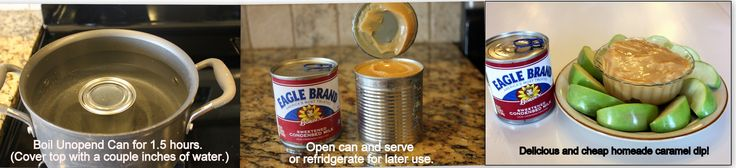 DIY Caramel Dip: Boil Condensed Milk In The Can - That's It! (Amazing!)