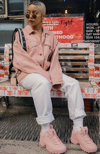 Pink fila ( @wuzg00d ) in 2019 | Fila outfit, Fashion, Outfits