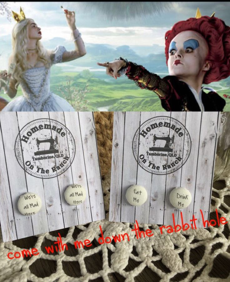 A personal favourite from my Etsy shop https://www.etsy.com/au/listing/451885584/alice-in-wonderland-earrings-stud