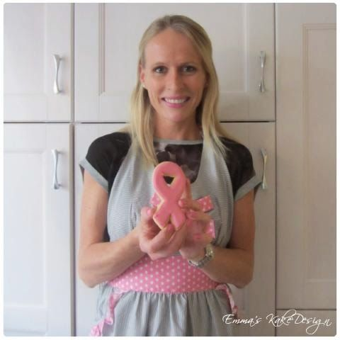Emmas KakeDesign: Pink Ribbon sugar cookies DIY tutorial on the blog. www.emmaskakedesign.blogspot.com
