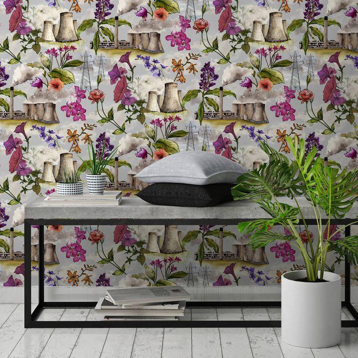 Bedroom Cabinet Designs Ideas Bedroom Ceiling Lights Ideas Bedroom Designs For Couples Black And White Damask Bedroom: Best 25+ Industrial Wallpaper Ideas On Pinterest