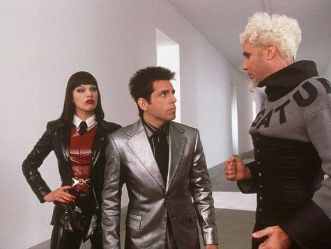 Still of Milla Jovovich, Ben Stiller and Will Ferrell in Zoolander (2001)