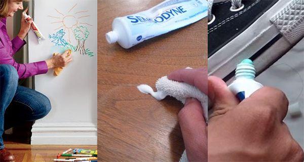 Tandpasta is iets wat we allemaal in huis hebben. Onmisbaar om je tanden mee te poetsen. Maar wist je dat je met tandpasta heel veel andere handige dingen kunt doen? Wat dacht je van lelijke waterkringen uit je tafel krijgen of zilver te polijsten? Wij hebben 17 onverwachte manieren voor je om tandpasta in en …