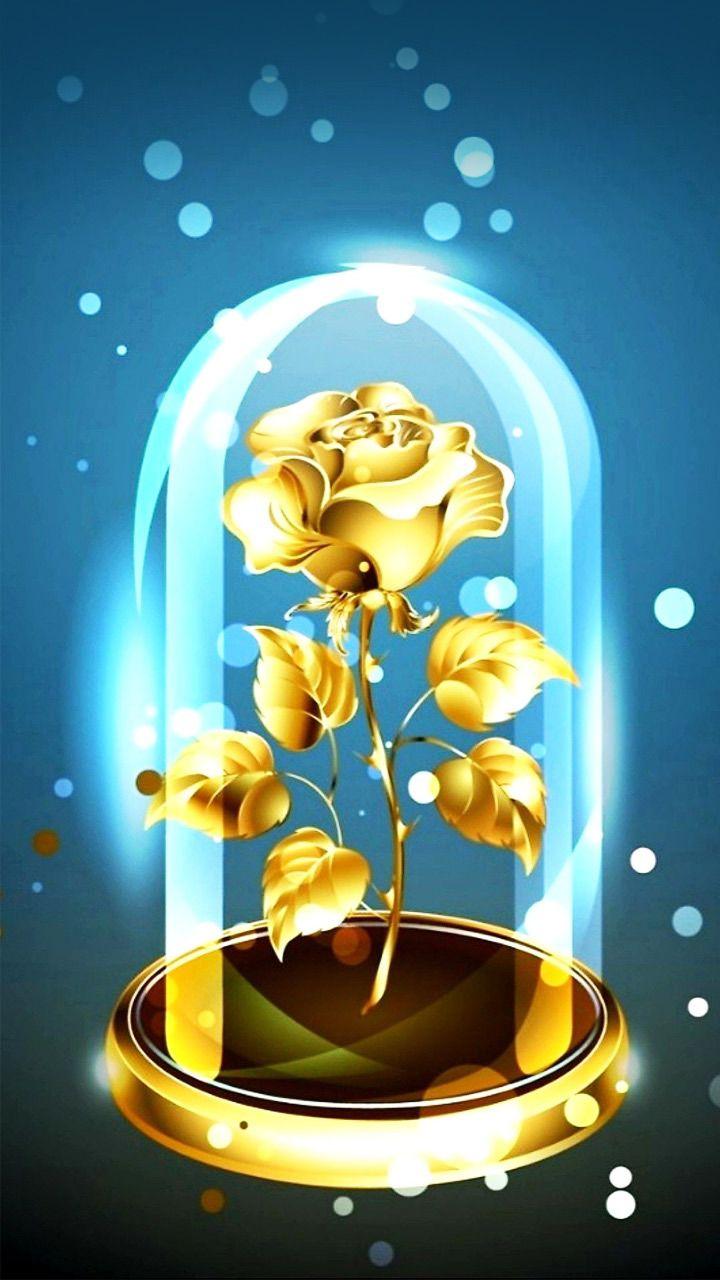 WoowPaper 3d Wallpaper Golden Rose