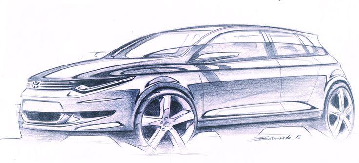 VW Sketch - by Cesar Zanardo