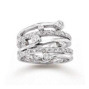 Bezel Prong .40 Carat Diamond Right Hand Ring