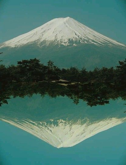 Mt. Fuji reflection in water