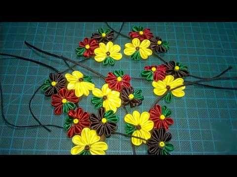 #96 - Flor Tecido Cetim- Puxadores para armarios / Cristaleiras ! - DIY - kanzashi / サテン花 / 簪 - YouTube