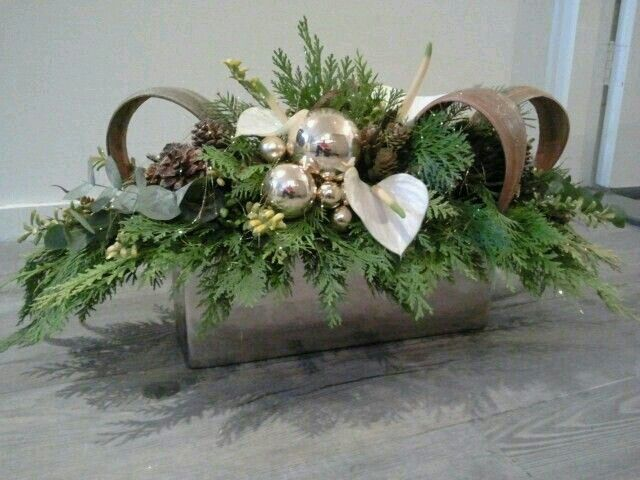 Silver accented centerpiece