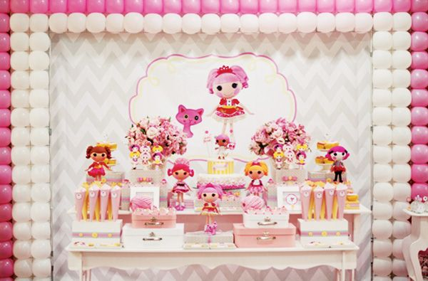 pink gray dessert table pics | Pink & Yellow Lalaloopsy Dessert Table // Hostess with the Mostess®