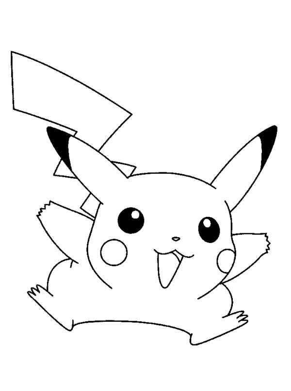 pikachu coloring pages funny  pikachu coloring page