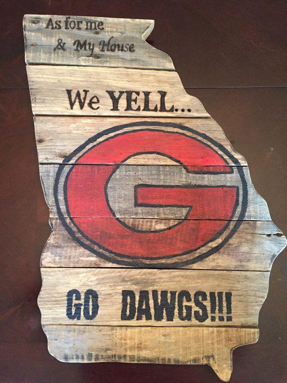 Georgia State Wood Pallet Sign | All things UGA | Georgia ...