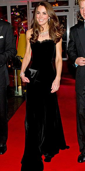 Kate wears Alexander McQueen at the Sun Military Awards tonight.