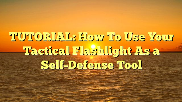 TUTORIAL: How To Use Your Tactical Flashlight As a Self-Defense Tool - http://4gunner.com/tutorial-how-to-use-your-tactical-flashlight-as-a-self-defense-tool/