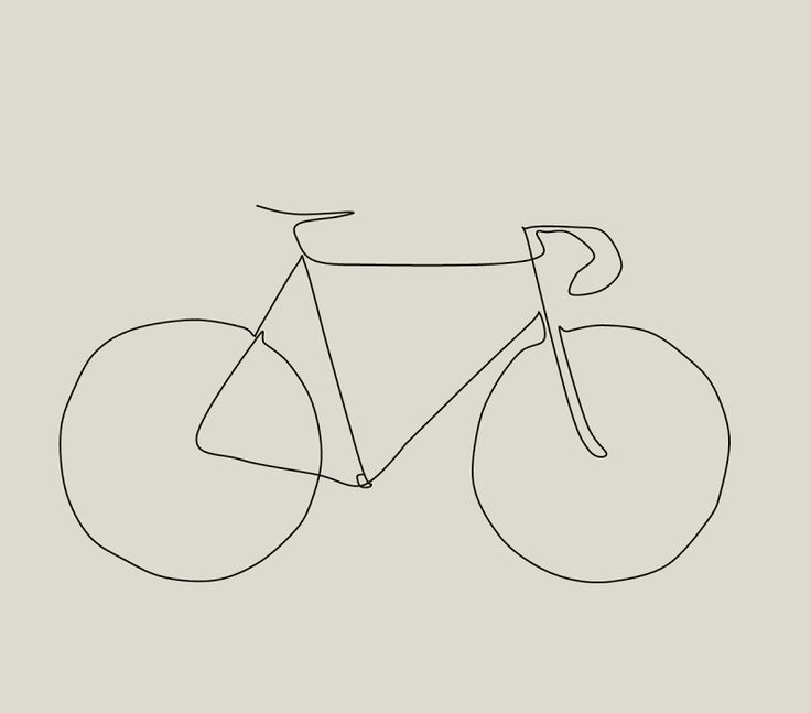 Simple Line Artwork : Simple bicycle drawing imgkid the image kid
