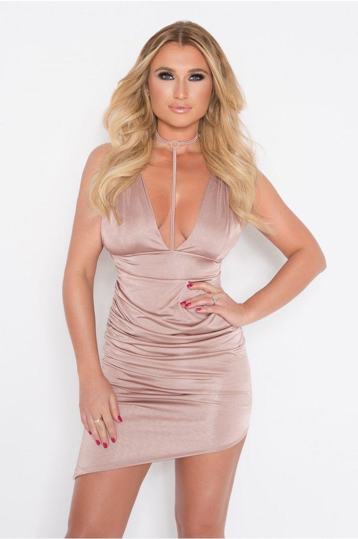 Billie Faiers Blush Slinky Harness Dress