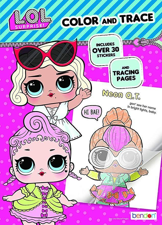 Amazon Com L O L Surprise Bendon 42756 Color Trace Book Multicolor Toys Games Color Activities Lol Kids Rooms Diy