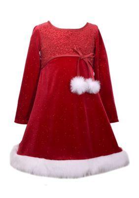 Bonnie Jean Santa Dress Girls 7-16 - Red - 14