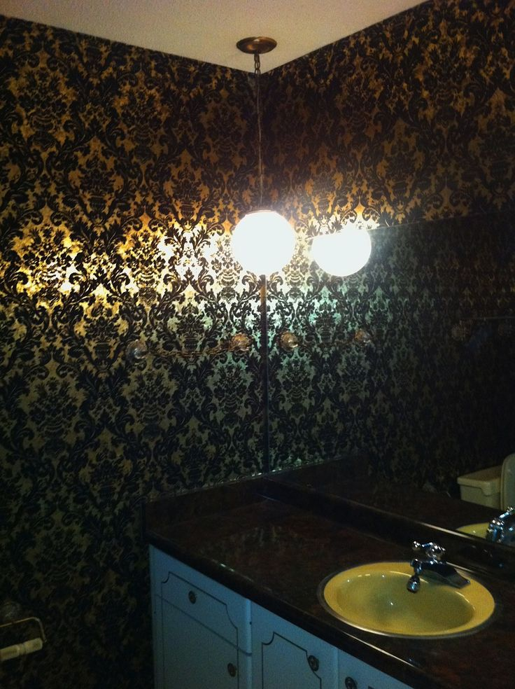 17 best ideas about small bathroom wallpaper on pinterest for Small bathroom wallpaper ideas