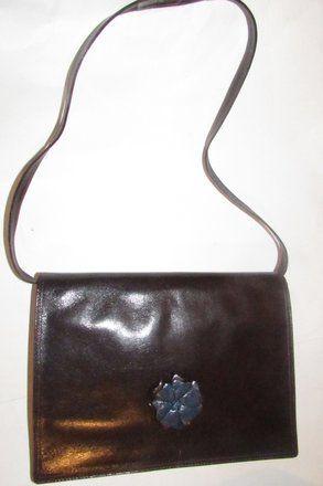1b105ee5e4 Fendi Mint Vintage Lagerfield Influence Asian Deco Look Clutch Shoulder  Shoulder Bag