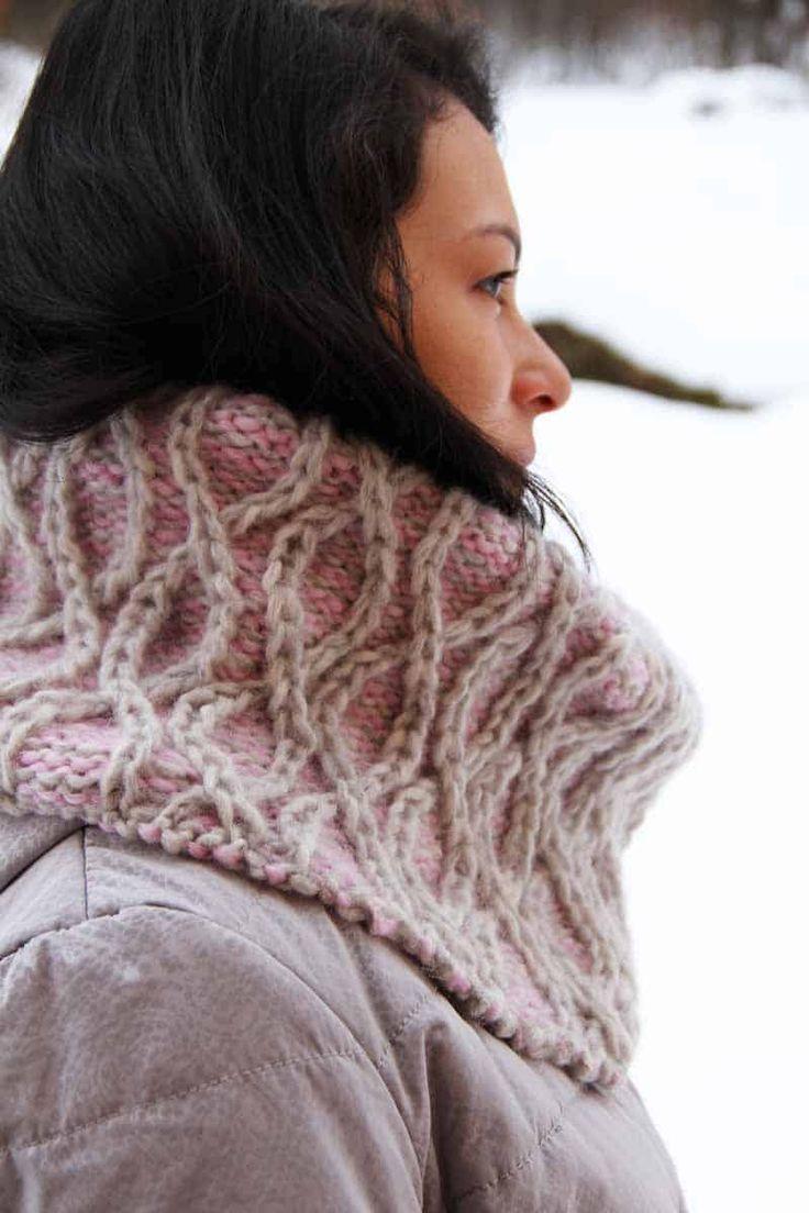 Návod na dámský pletený objemný nákrčník
