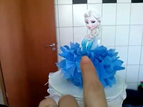 Como fazer  bolo fake Frozen. Prepativos #7