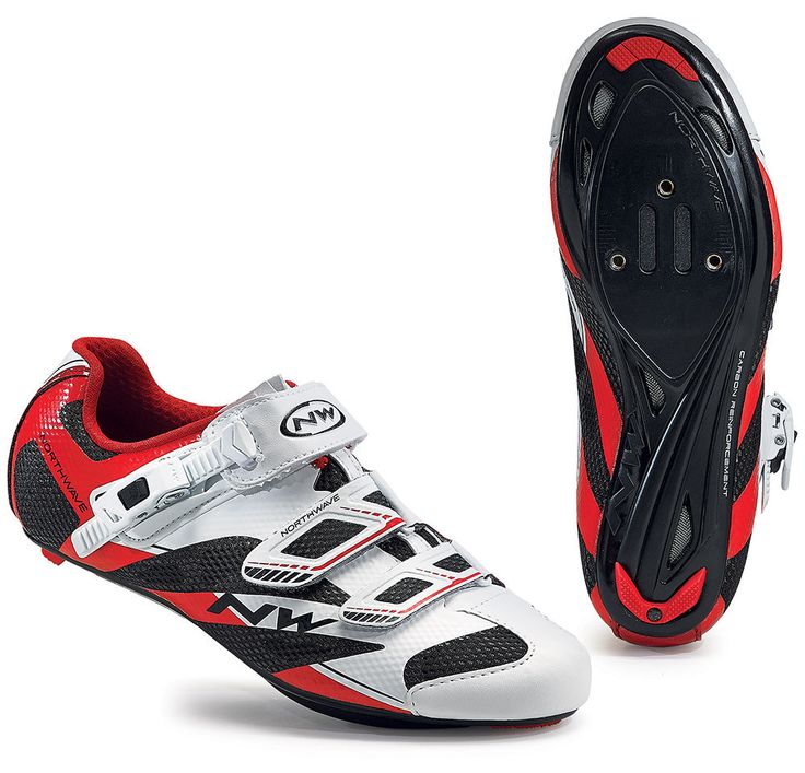 Northwave Sonic 2 SRS Road Cycling Shoes - White-Black-Red