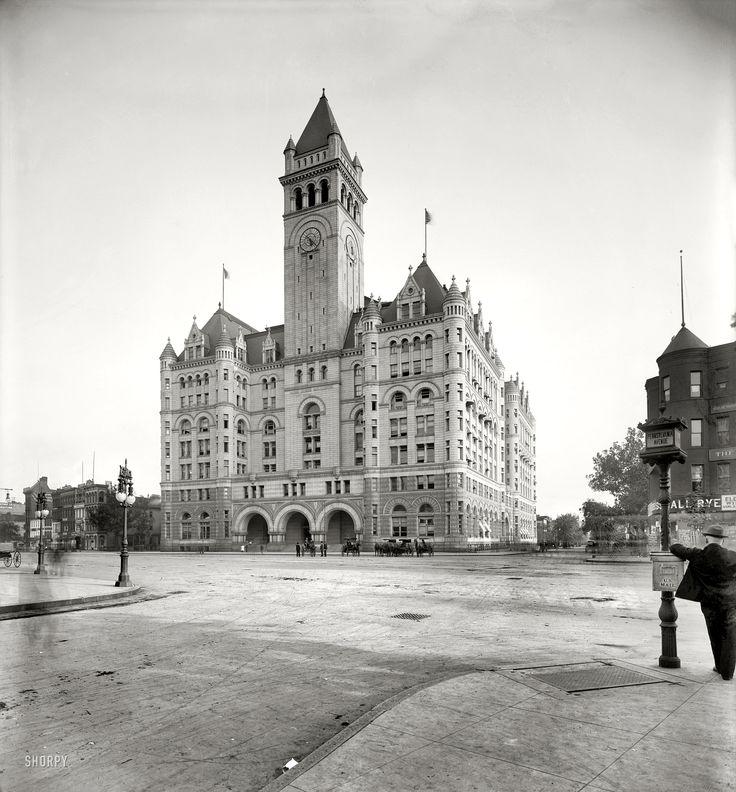 "Washington, D.C., circa 1905. ""P.O. Dept."" The Old Post Office on Pennsylvania Avenue. National Photo Company Collection glass negative."