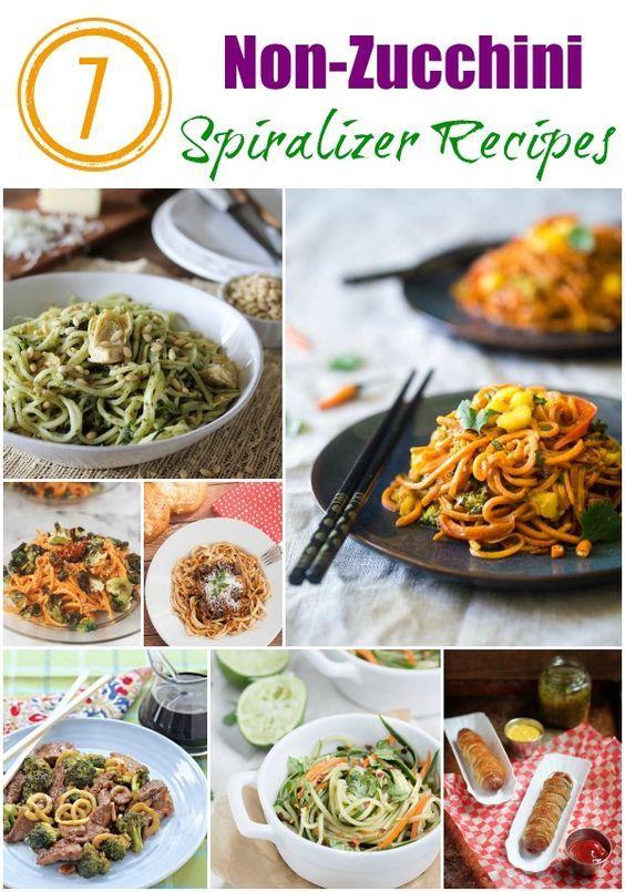 Non-Zucchini Spiralizer Recipes                                                                                                                                                                                 More