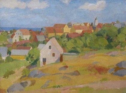 Karl Isakson, Udsigt over Gudhjem, 1921
